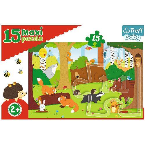 Trefl Puzzle Baby maxi 15el. Zwierzęta w lesie