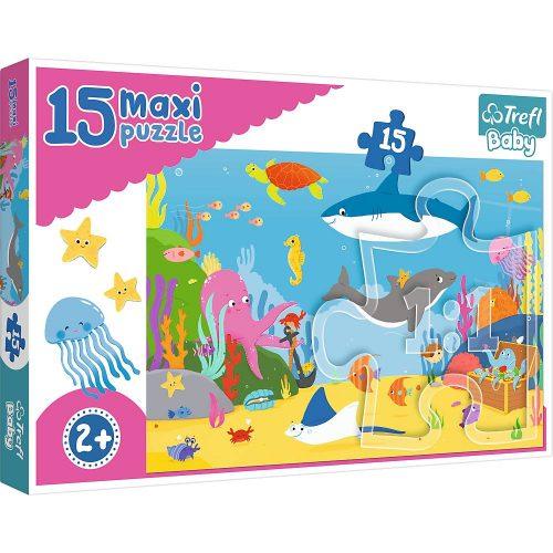 Trefl Puzzle Baby maxi 15el. Podwodny świat