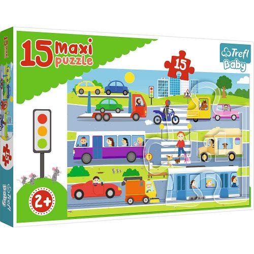 Trefl Puzzle Baby maxi 15el. Pojazdy miejskie