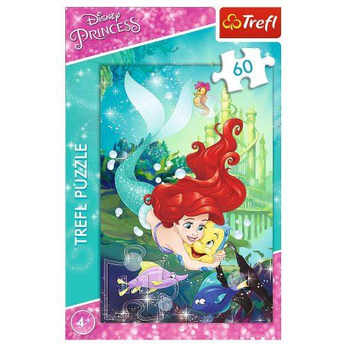 Trefl Puzzle 60el. Księżniczki: Arielka i jej przyjaciele