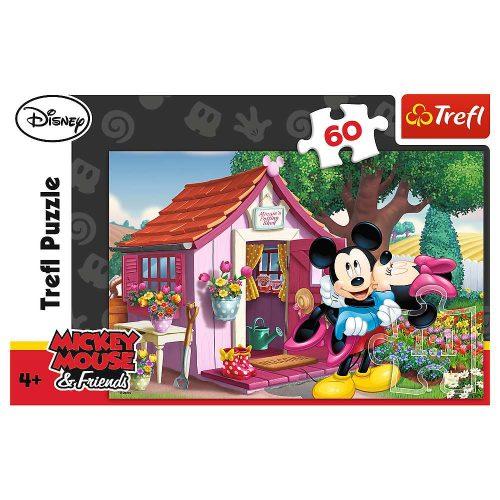 Trefl Puzzle 60el. Miki i Minni w ogrodzie