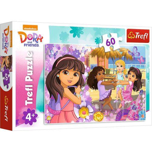 Trefl Puzzle 60el. Dora i przyjaciele: Taniec i muzyka