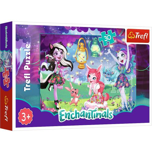 Trefl Puzzle 30el. Mattel Enchantimals: Magiczny świat Enchantimals