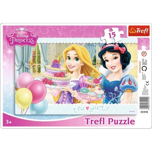 Trefl Puzzle ramkowe 15el. Księżniczki: Przyjęcie