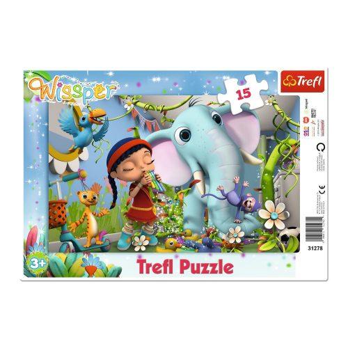 Trefl Puzzle ramkowe 15el. Wissper: Melodia przyjaźni