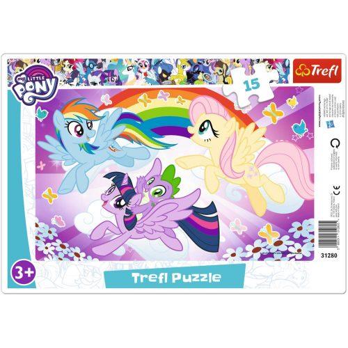 Trefl Puzzle ramkowe 15el. My Little Pony: Zabawa kucyków
