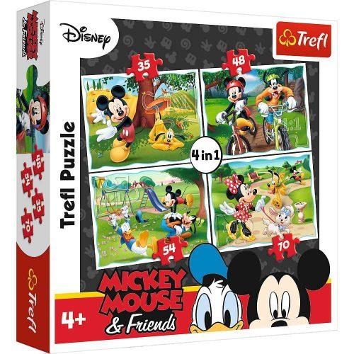 Trefl Puzzle 4w1 35 48 54 70 el. Myszka Miki: Zabawy w parku