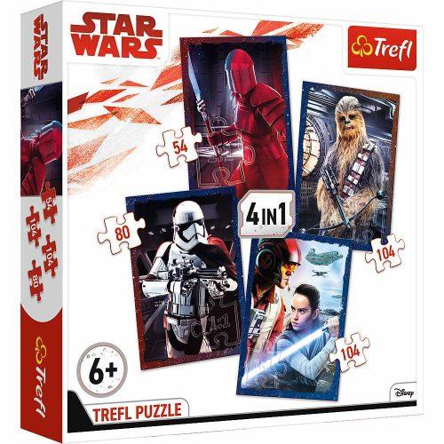Trefl Puzzle 4w1 35 48 54 70 el. Star Wars VIII