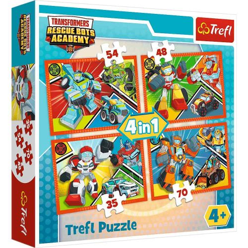 Trefl Puzzle 4w1 35 48 54 70 el. Akademia Transformersów