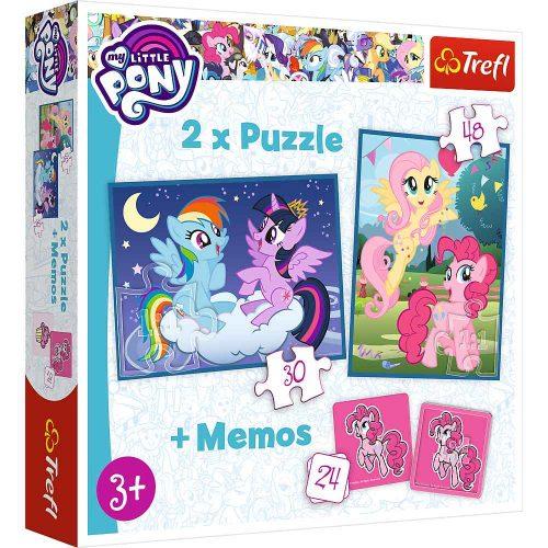 Trefl Puzzle 2w1 – (30 48el.) + memory My Little Pony: Przyjaźń to magia
