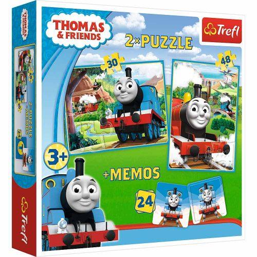 Trefl Puzzle 2w1 – (30 48el.) + memory Tomek i Przyjaciele