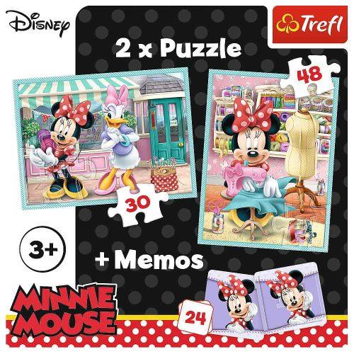 Trefl Puzzle 2w1 – (30 48el.) + memory Minnie: Hobby Minnie