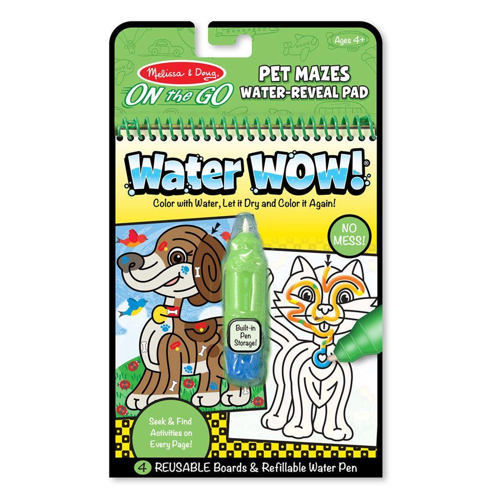 Melissa & Doug Wielorazowa wodna kolorowanka dla dzieci labitynty warterwow magiczny mazak