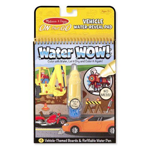 Melissa & Doug Wielorazowe kolorowanki wodna pojazdy waterwow magiczny mazak