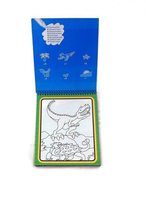 Melissa & Doug Wielorazowe kolorowanki wodna dinozaury
