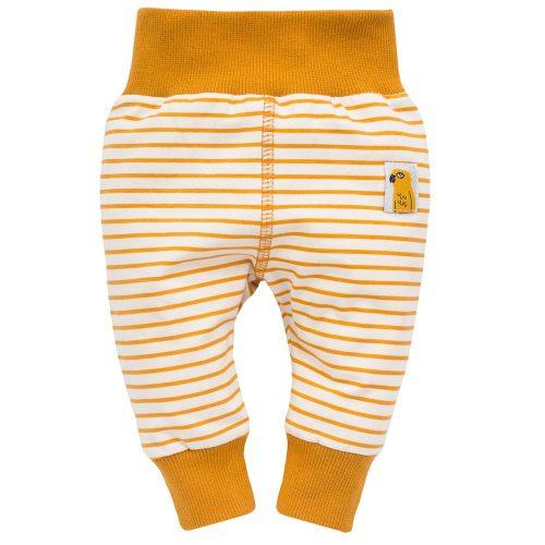Pinokio Nice Day leginsy dla dziecka 68 Paski Żółte