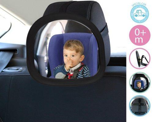 Regulowane lusterko na zagłowek do fotelików samochodowych KioKids