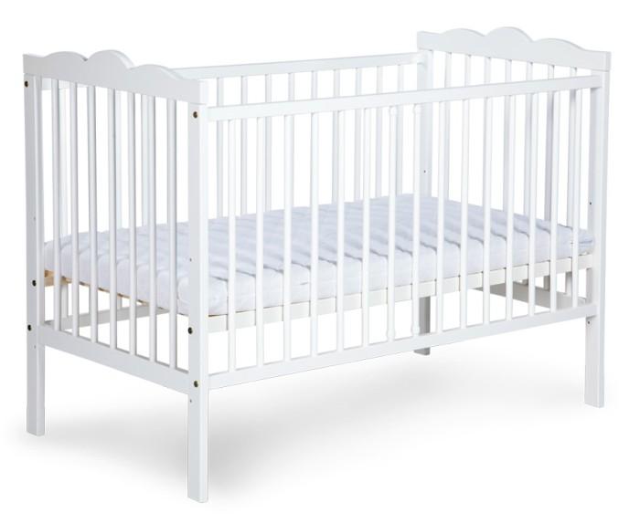 Zestaw mebli komoda + łóżeczko dziecięce Klupś 120x60 Radek III Biały