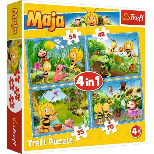 Trefl Puzzle 4w1 35 48 54 70 el. Przygody Pszczółki Mai