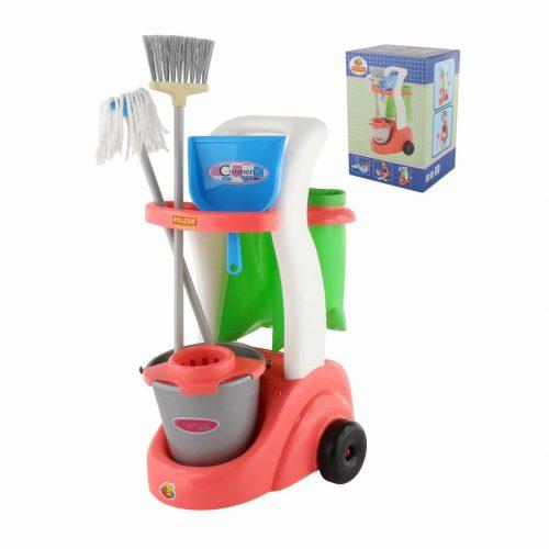 Zestaw do sprzątania dla dzieci wiaderko mop szczotka szufelka