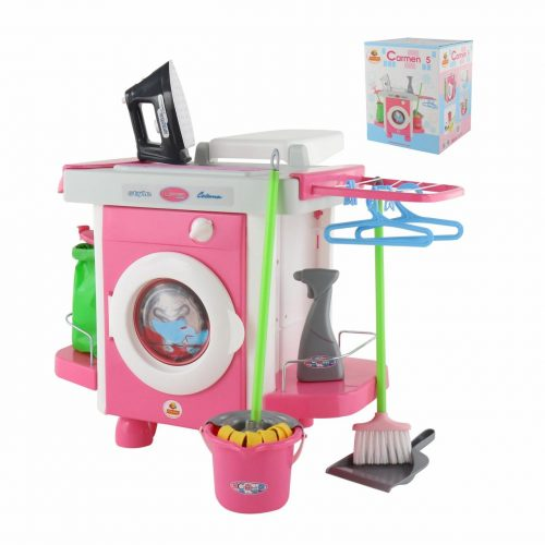 Zestaw do sprzątania dla dzieci z Pralką automatyczną Carmen