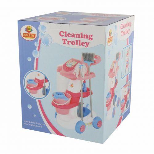 Wózek do sprzątania z mopem i akcesoriami