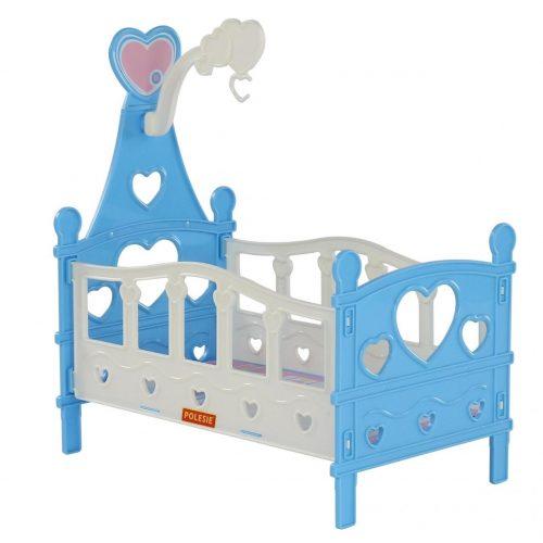 Łóżeczko składane dla lalek w niebieskim kolorze