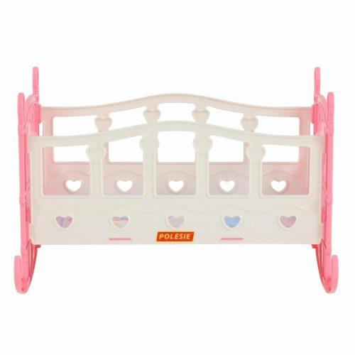 Łóżeczko kołyska dla lalek składane łóżeczko róż