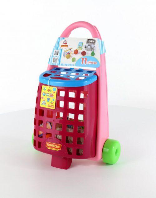 Koszyk na zakupy - wózek zestaw zakupowy 11 elem.
