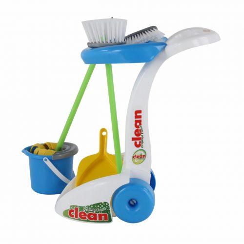 Duży zestaw do sprzątania dla dzieci 6 el mop wiadro szczotka szufelka