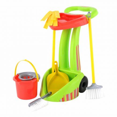 Zestaw do sprzątania dla dziecka wiaderko mop szczotki 6 el.