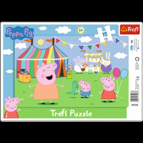Trefl Puzzle ramkowe 15el. W wesołym miasteczku