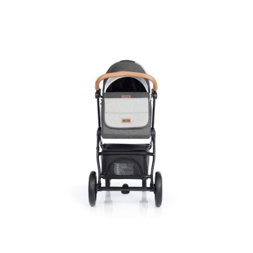 Wóżek głęboko spacerowy Roan Esso zestaw 2w1 kolor Total Grey + GRATIS !