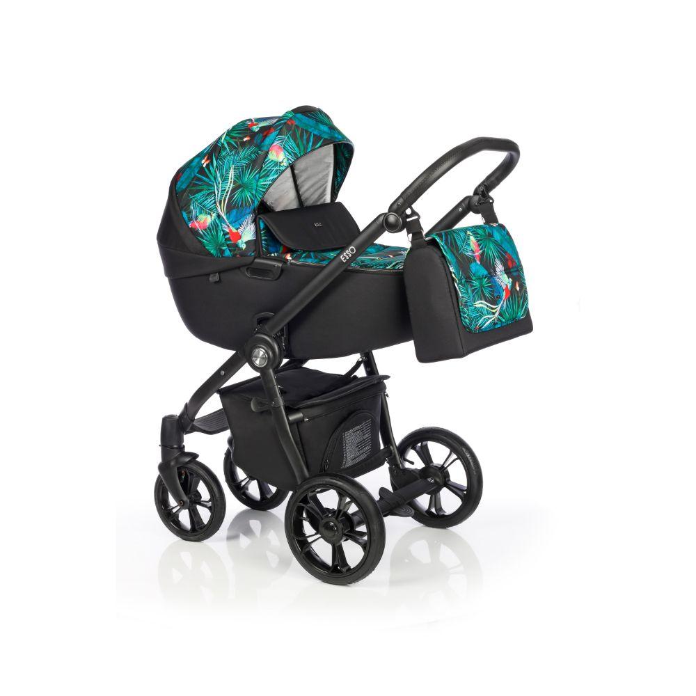 Wóżek głęboko spacerowy Roan Esso zestaw 2w1 kolor Tropical Garden + GRATIS !