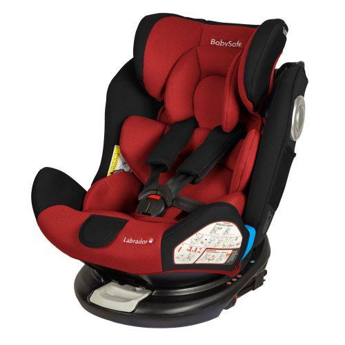 Fotelik samochodowy Baby Safe Labrador 0-36 kg, obrót 360 stopni, kolor Czerwony