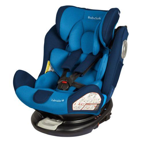 Fotelik samochodowy Baby Safe Labrador 0-36 kg, obrót 360 stopni, kolor Niebieski