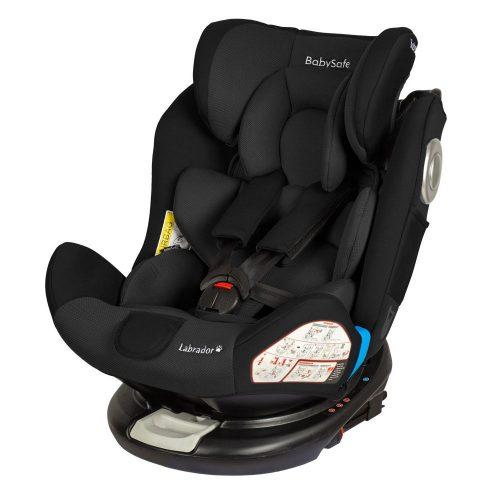 Fotelik samochodowy Baby Safe Labrador 0-36 kg, obrót 360 stopni, kolor Czarny
