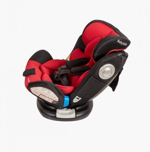 Fotelik samochodowy Baby Safe Labrador 0-36 kg, obrót 360 stopni, kolor Szaro - Czarny