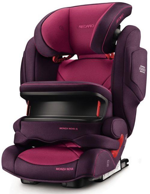Fotelik samochodowy 9-36 kg Recaro Monza Nova IS Seatfix z osłoną tułowia kolor Power Berry
