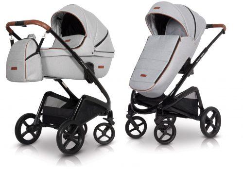 Wózek głęboko spacerowy Euro Cart Express zestaw 2w1 kolor Grey Fox