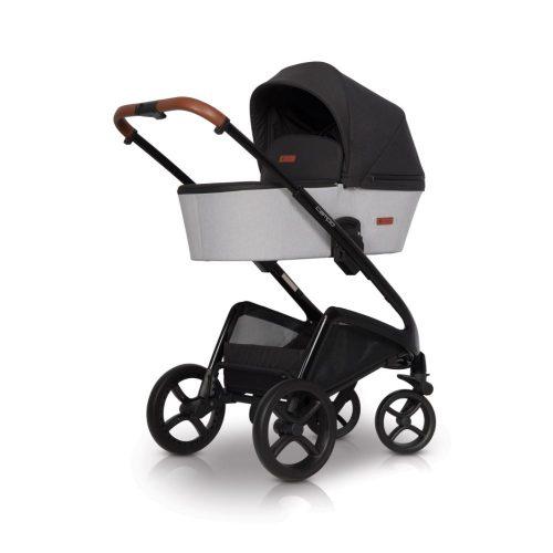 Wózek głęboki Euro Cart Compo stelaż plus gondola kolor Grey Fox
