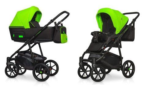 Wózek głęboko spacerowy Riko Swift Neon zestaw 2w1 kolor Ufo Green