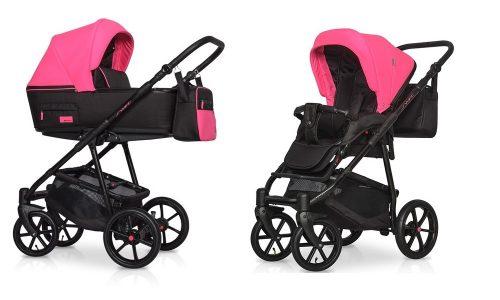 Wózek głęboko spacerowy Riko Swift Neon zestaw 2w1 kolor Electric Pink