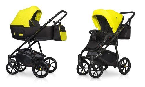 Wózek głęboko spacerowy Riko Swift Neon zestaw 2w1 kolor Crazy Yellow