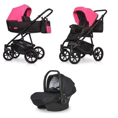 Wózek głęboko spacerowy Riko Swift Neon zestaw 3w1 kolor Electric Pink
