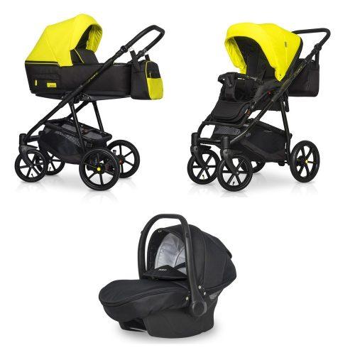 Wózek głęboko spacerowy Riko Swift Neon zestaw 3w1 kolor Crazy Yellow