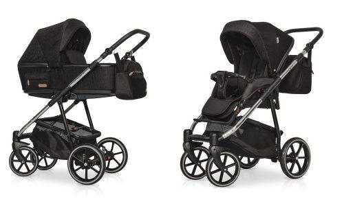 Wózek głęboko spacerowy Riko Swift Premium zestaw 2w1 kolor Carbon