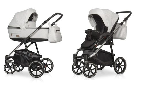 Wózek głęboko spacerowy Riko Swift Premium zestaw 2w1 kolor Platinium