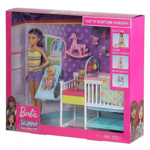 Barbie opiekunka maluszek zestaw mebli dla lalek GFL38