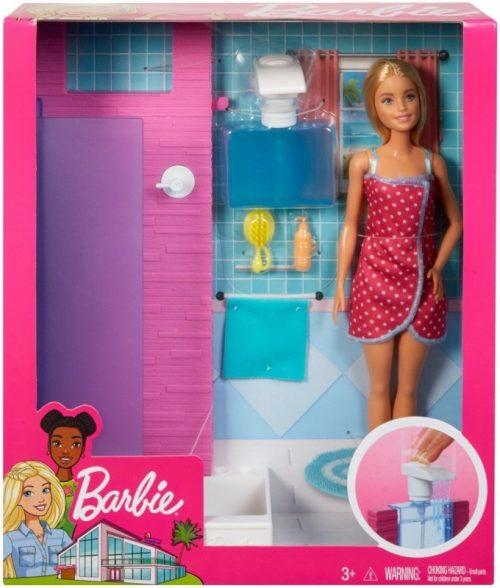 Meble dla lalek Barbie prysznic FXG51